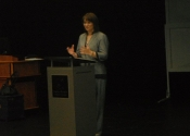 Speech presentation at Anoka Ramsey Community College in Minnesota